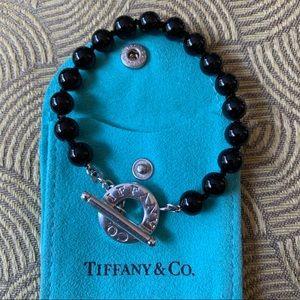 Tiffany & Co. black onyx toggle bracelet